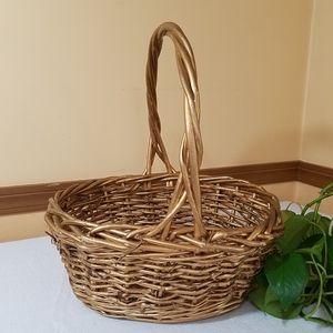 Gold Wicker Basket
